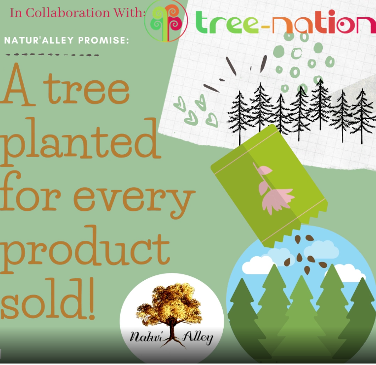 Natur'Alley | Tree Planted for Every purchase of | Reforestation | Vegan Skincare