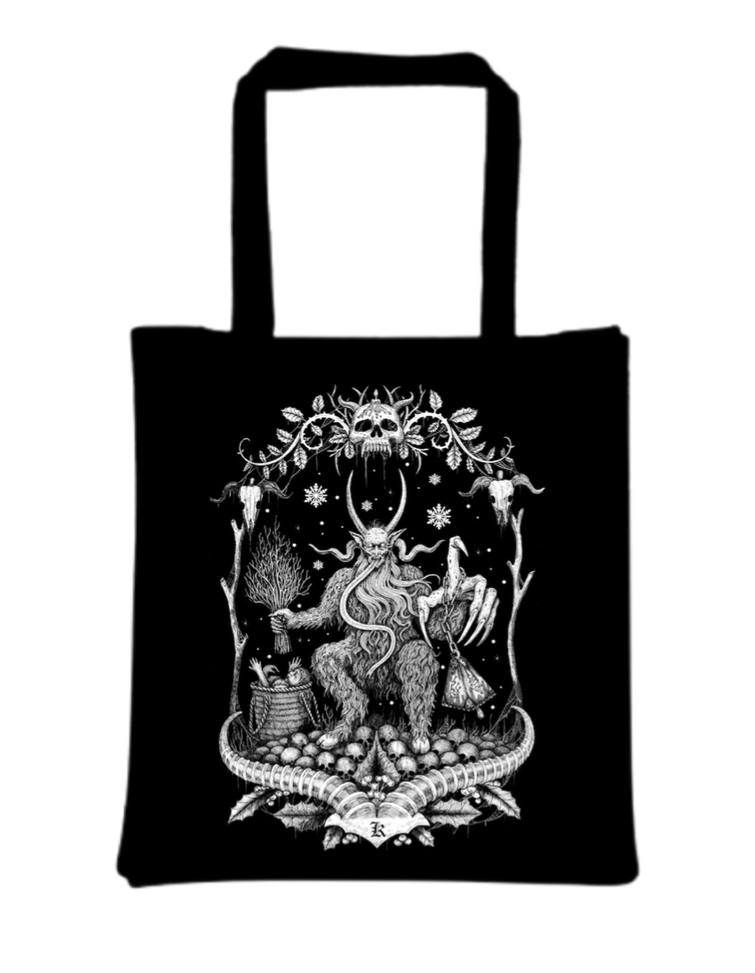 Krampus Tote Bags Designed by Luciana Nedelea