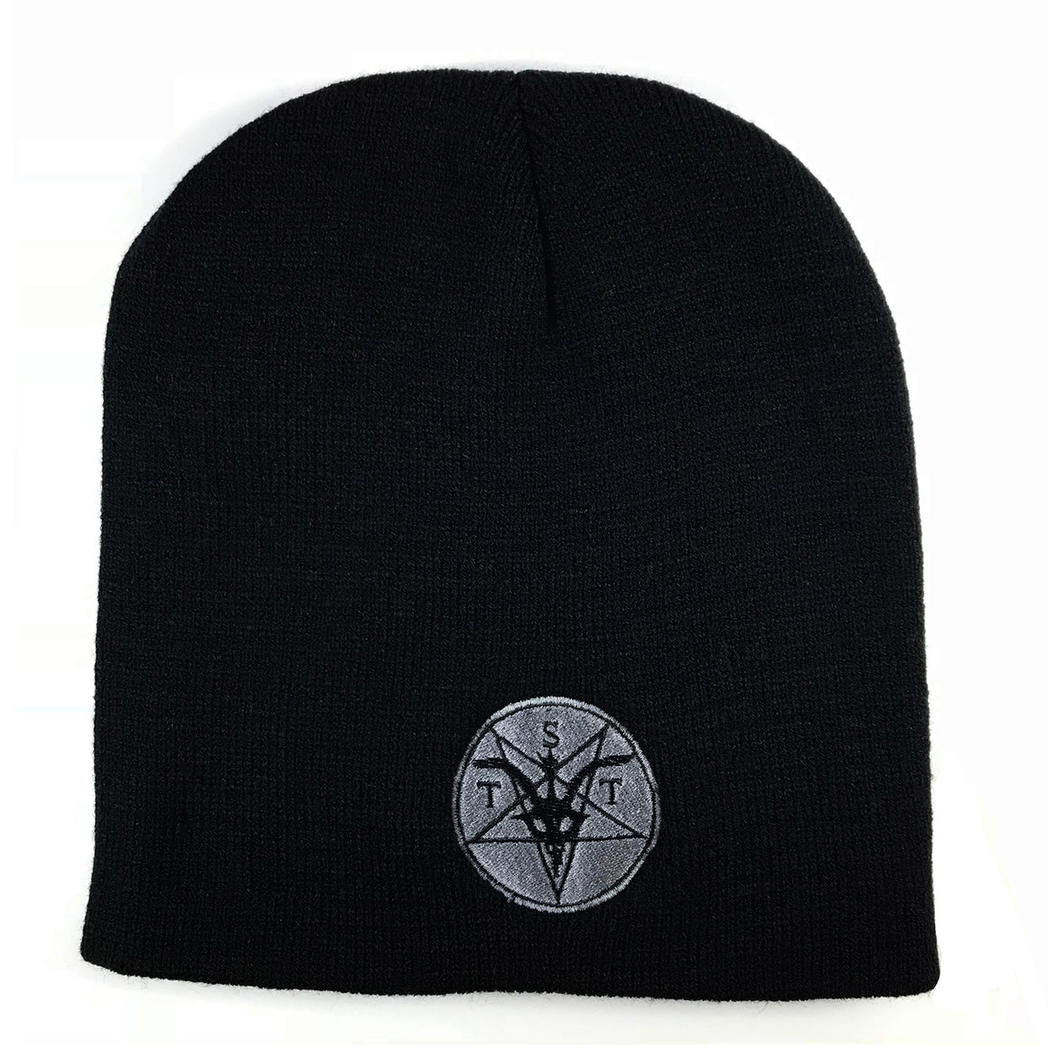 TST logo knit hat Gray Logo
