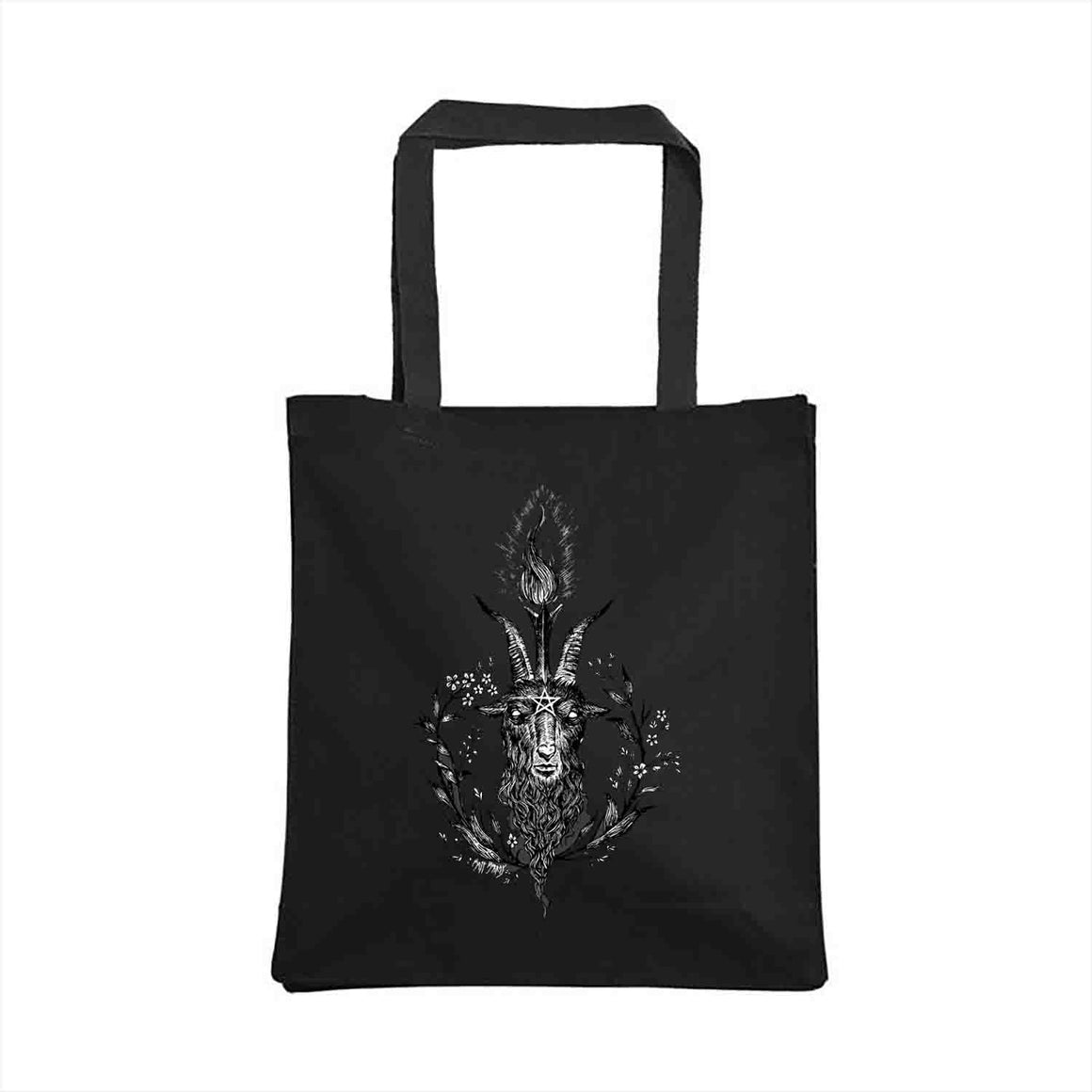 Baphomet Tote Bag design by The Black Veil Studio