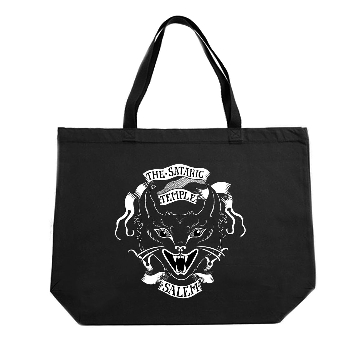 TST Devil Kitty Large Tote Bag designed by Alexander Lex Corey