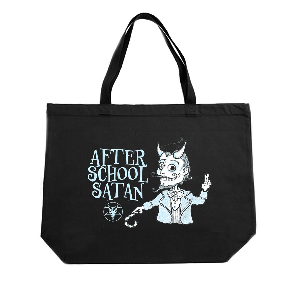 After School Satan Large Tote Bag Designed by Lucien Greaves