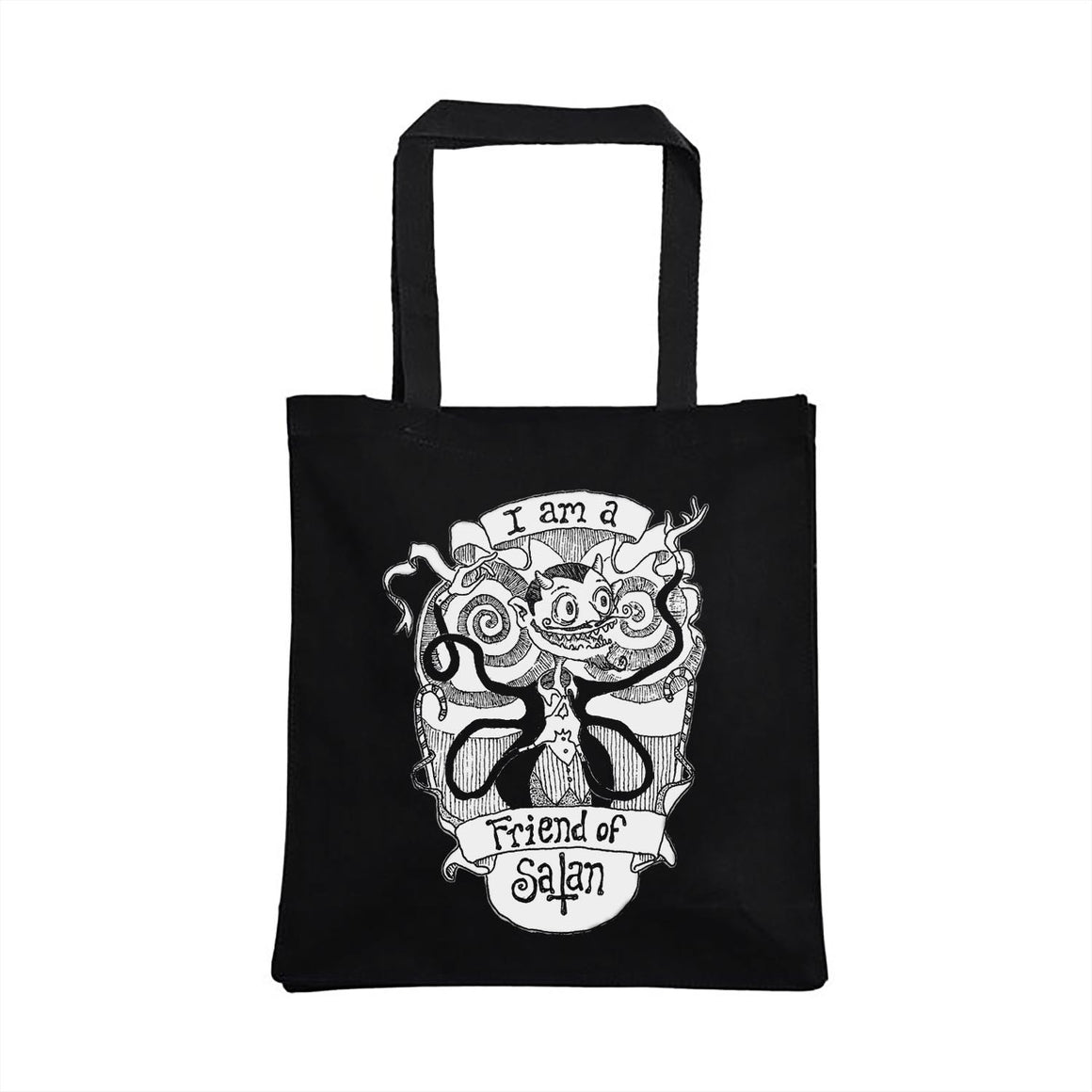 Friend of Satan Tote Bag designed by Lucien Greaves