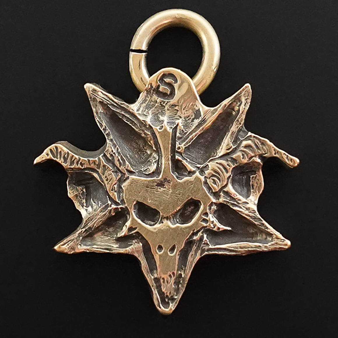TST Logo Pendant hand carved in Bronze by Pretty Hate Machining Very Limited Supply