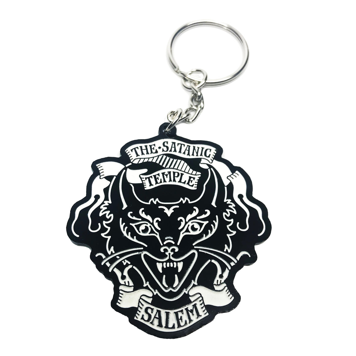 TST Salem Cat Logo Keychain- glows in dark