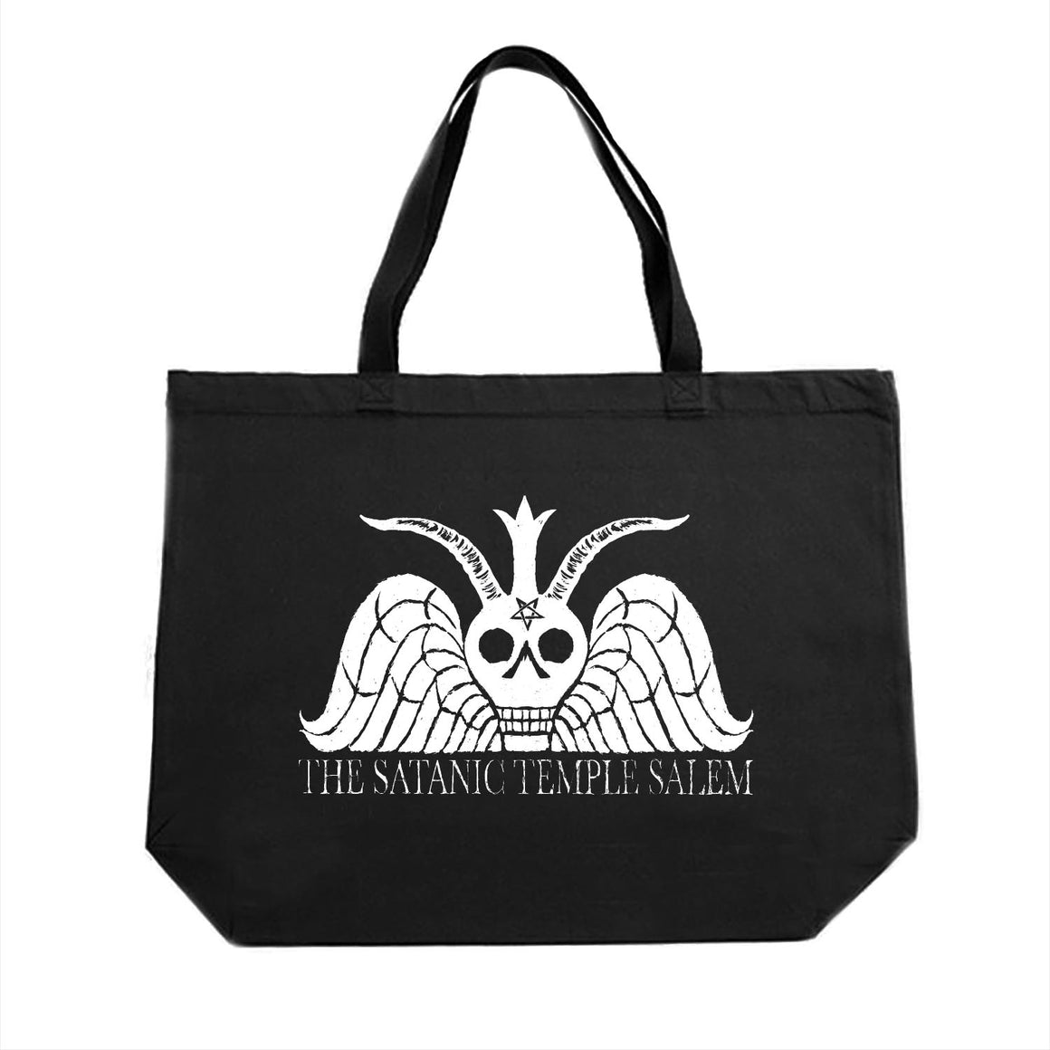 The Satanic Temple Salem Winged Baphomet tote