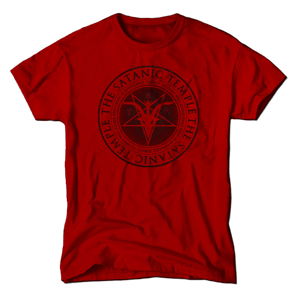 TST Religious Reproductive Rights Tenet T-shirt in Red One's body is inviolable subject to ones own will alone