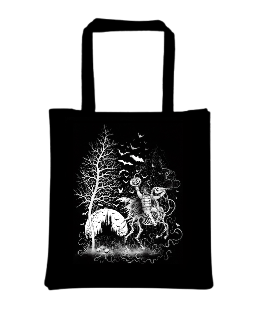 Headless Horseman Tote Bag Designed by Luciana Nedelea