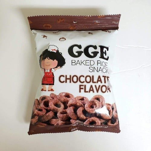 GGE Baked Rice Snack Chocolate 1.58 Oz (45g)
