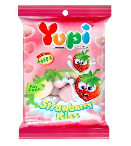 Yupi Strawberry Kiss Gummy Candy