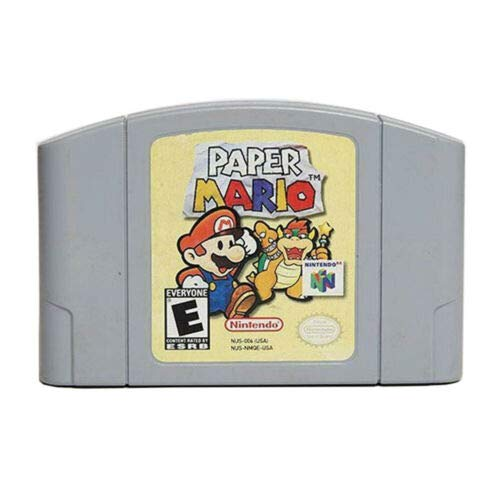 Mario Paper Video Games Cartridge Card for Nintendo N64 Console US Version