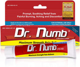 Dr. Numb 5% Lidocaine Topical Anesthetic Numbing Cream for Pain Relief, 30g
