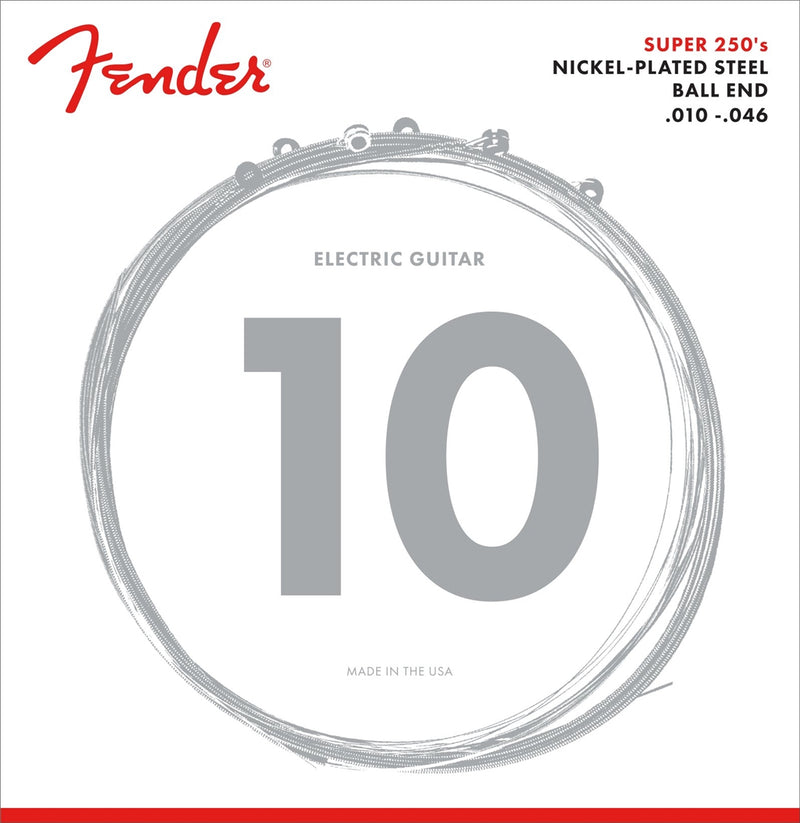 Genuine Fender Super 250R Nickel Plated Steel Strings 10-46 073-0250-406