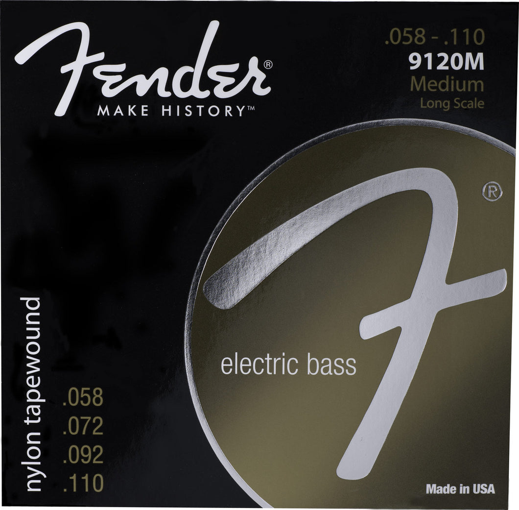 Genuine Fender® 9120 Nylon Tapewound Bass Strings, Set of 4 073-9120-406