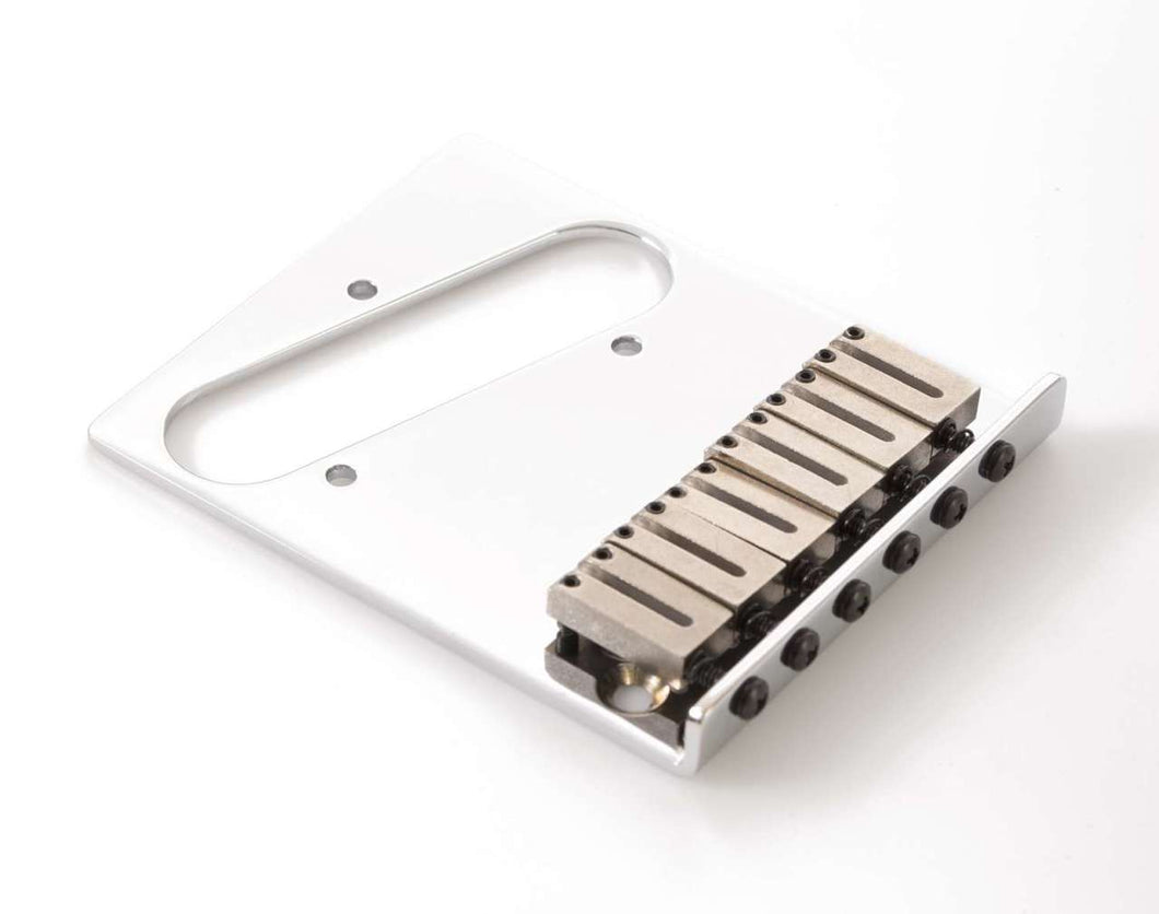 Genuine Fender 6 Saddle American Series Telecaster Bridge, Chrome 099-0807-100