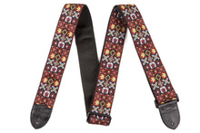 "Load image into Gallery viewer, Genuine Fender® 2"" Festival Hootenanny Red/Black Guitar Strap 099-0614-001"