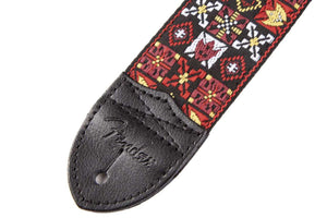 "Genuine Fender® 2"" Festival Hootenanny Red/Black Guitar Strap 099-0614-001"
