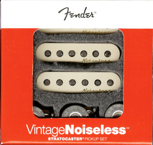 Genuine Fender Noiseless Stratocaster Pickups, Aged White, 099-2115-000 NEW
