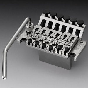 Genuine Schaller Germany Floyd Rose Tremolo Bridge, 42mm Block R2 Nut, Nickel