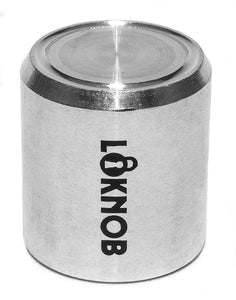 "Loknob Aluminum Tour cap 3/4"" Silver - for amp, PA etc with CTS type 1/4"" shafts"