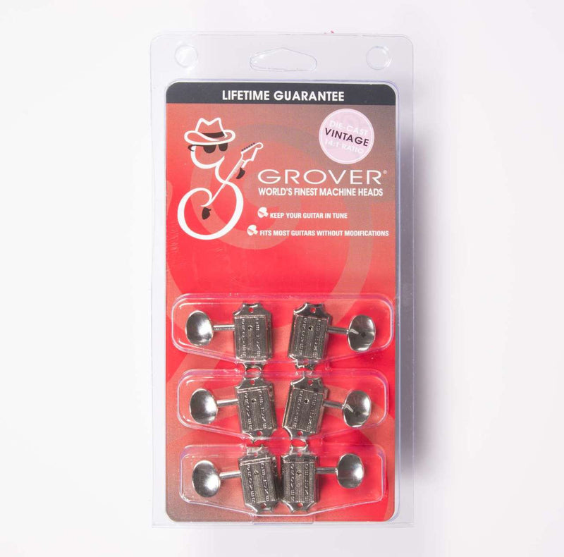 Grover 136N Vintage Deluxe SD91 3+3 Guitar Tuners, Nickel