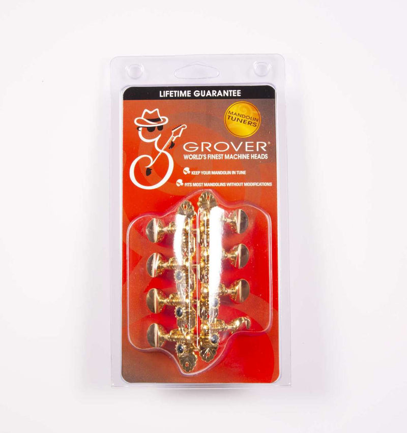 Genuine Grover Sta-Tite Mandolin 4+4 Gold Set of 8