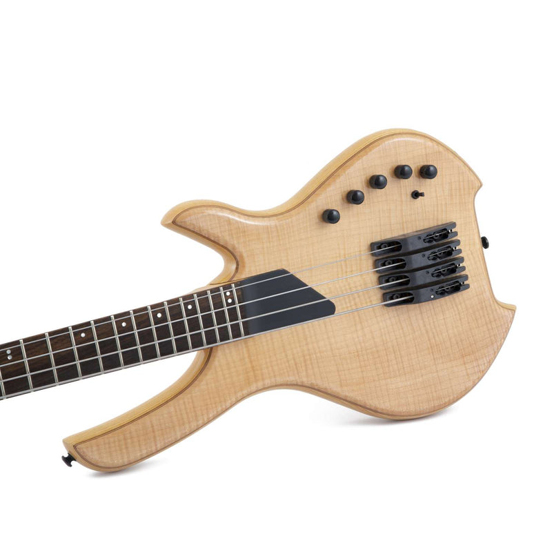 Lightwave Saber 4 String Bass, Optical, Trans Natural Flame top SVL4F-STN NEW