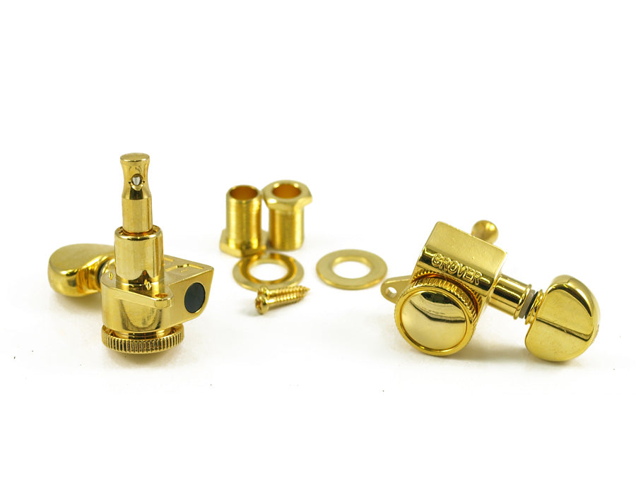 Grover 505G6 Mini Roto-Grip Locking Rotomatic 6 Inline tuners, Gold