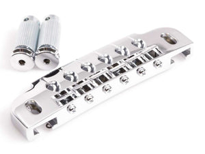 Genuine Gotoh 510UB Wrap Around Guitar Bridge w/ Stud Lock - Chrome