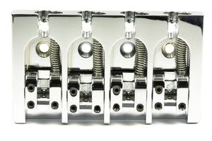 Genuine Hipshot A Style 4 String Bass Bridge Aluminum, Chrome 0.750 spacing