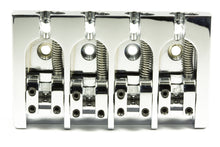 Load image into Gallery viewer, Genuine Hipshot A Style 4 String Bass Bridge Brass, Chrome, 0.750 spacing