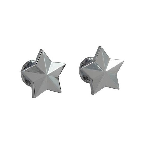 Genuine Grover Artist Strap Buttons (2) Star, Chrome GP630C