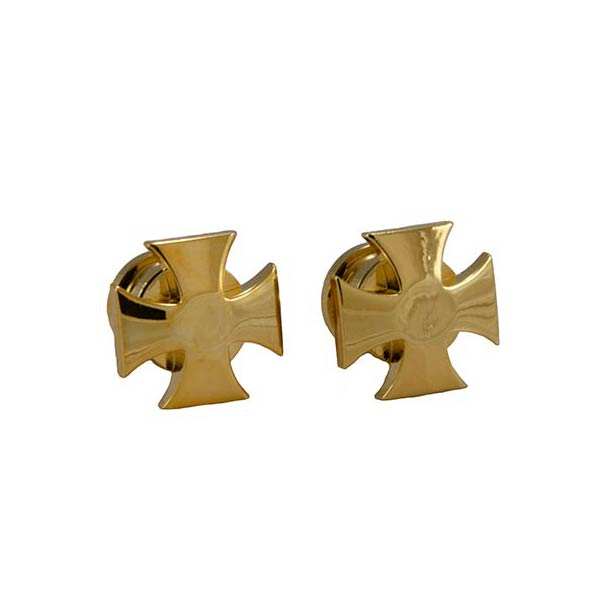Genuine Grover Artist Strap Buttons (2) Iron Cross, Gold GP640G