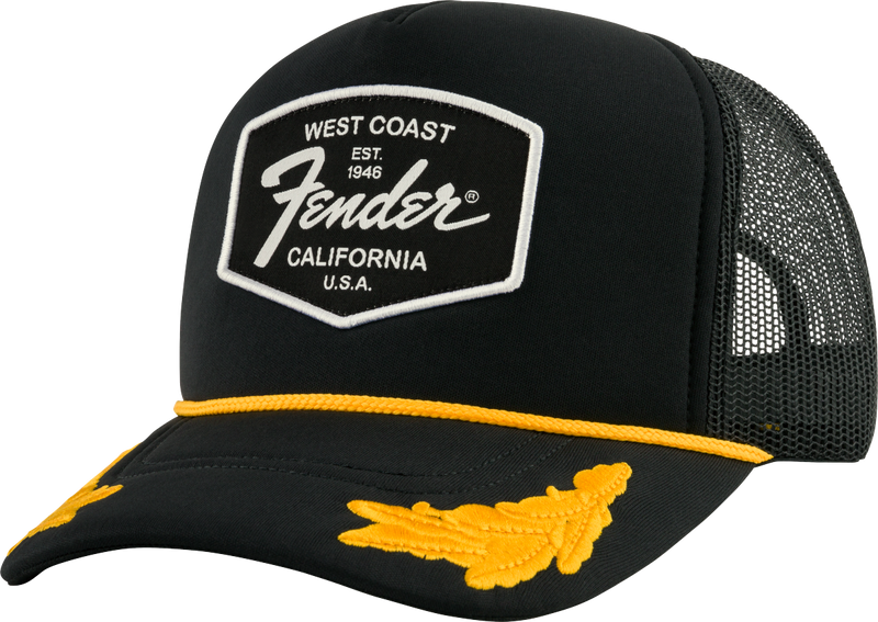 Genuine Fender Scrambled Eggs Hat, Black, One Size Fits Most 919-0149-001