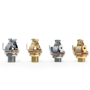 "Pure Tone Multi Contact Mono 1/4"" Output Jack, Gold PTT1G No more crackle!"