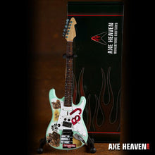 Load image into Gallery viewer, Axe Heaven Billy Joe Armstrong Blue Signature 1/4 scale Miniature Collectible Guitar