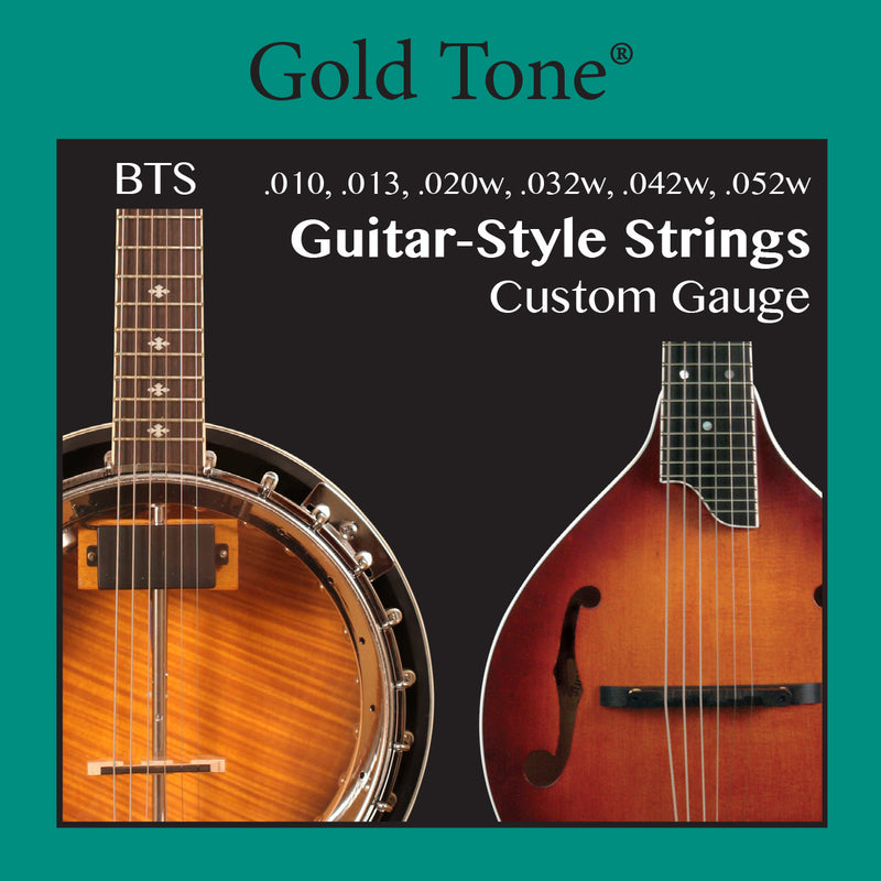 Gold Tone Banjitar Banjo-Guitar BTS Strings 6 string Loop End 010-052