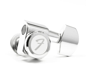 Genuine Fender® 099-0818-100 6 inline chrome locking tuners with 2-pin mount