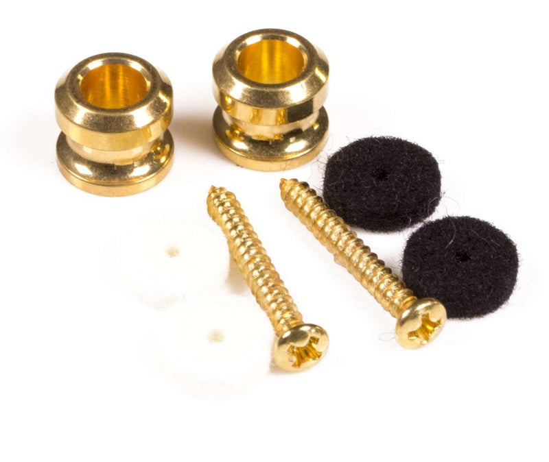 Genuine Fender® SRS Spare Gold Strap Buttons kit (2) 099-4914-200