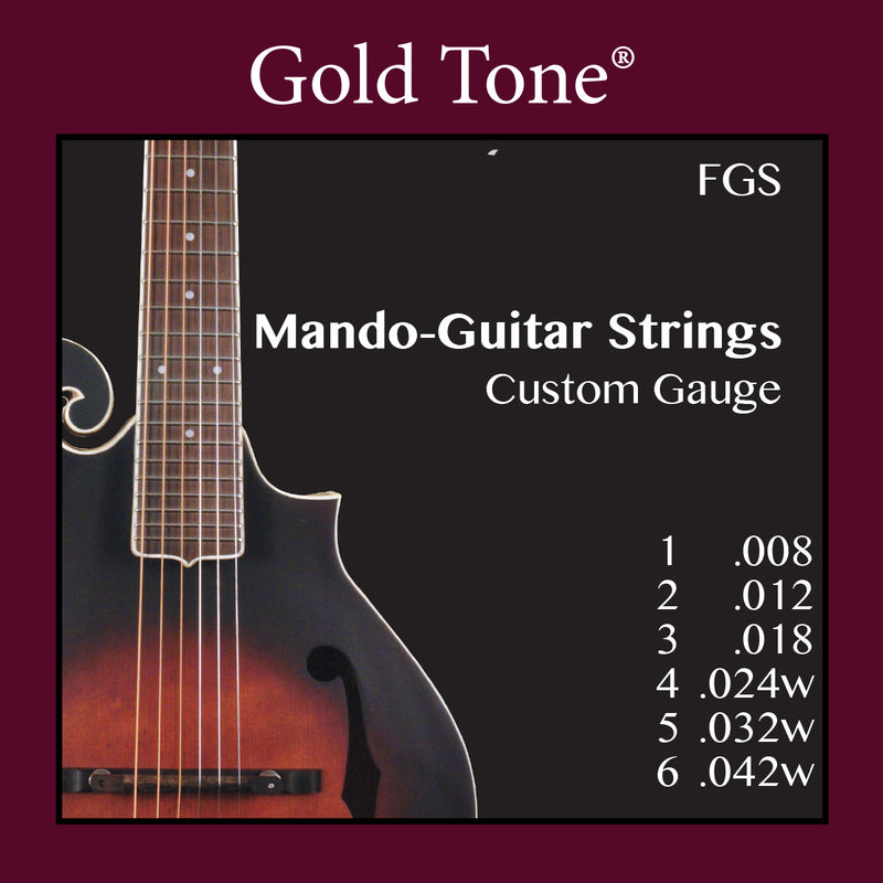 Gold Tone FGS Mando-Guitar Custom Gauge Strings