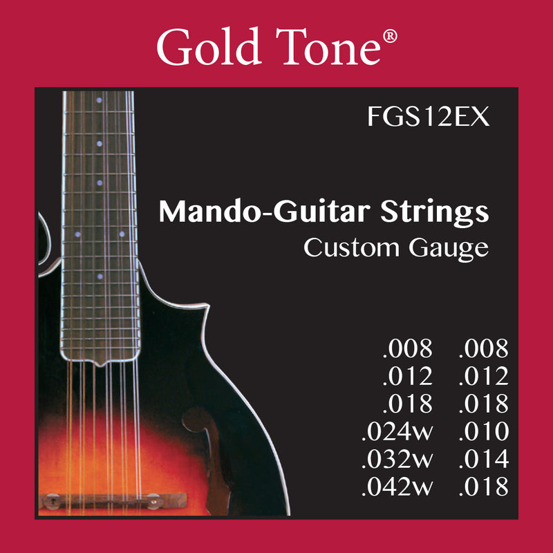 Gold Tone FGS12EX 12-String Mando-Guitar Strings (Extra Light)