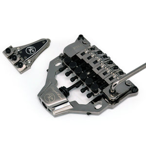 Floyd Rose FRX Top Mount Tremolo Kit Black Nickel with locking nut FRTX05000