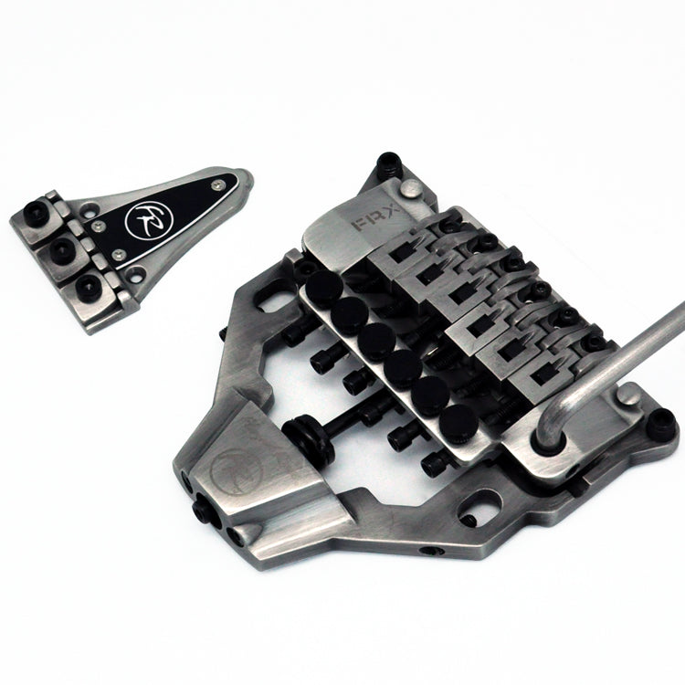 Floyd Rose FRX Top Mount Tremolo Kit Antique Silver with locking nut FRTX06000