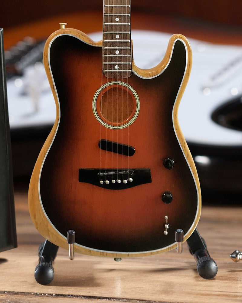 Axe Heaven Fender Acoustasonic Tele Sunburst 1/4 scale Miniature Collectible FT-014