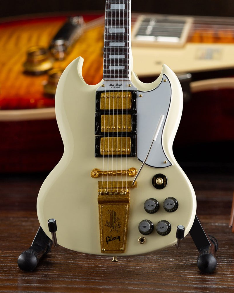 Axe Heaven Gibson 1964 SG Custom White 1/4 scale Miniature Collectible Guitar GG-222