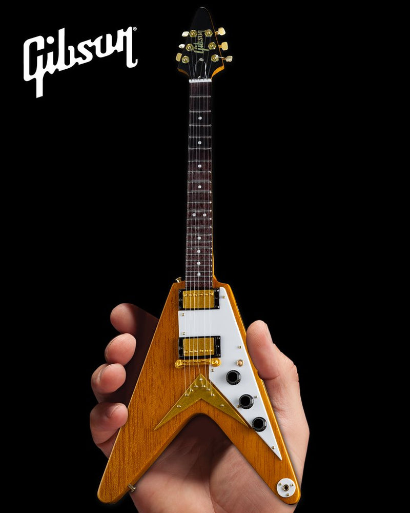 Axe Heaven Gibson 1958 Korina Flying V 1/4 scale Miniature Collectible Guitar GG-520