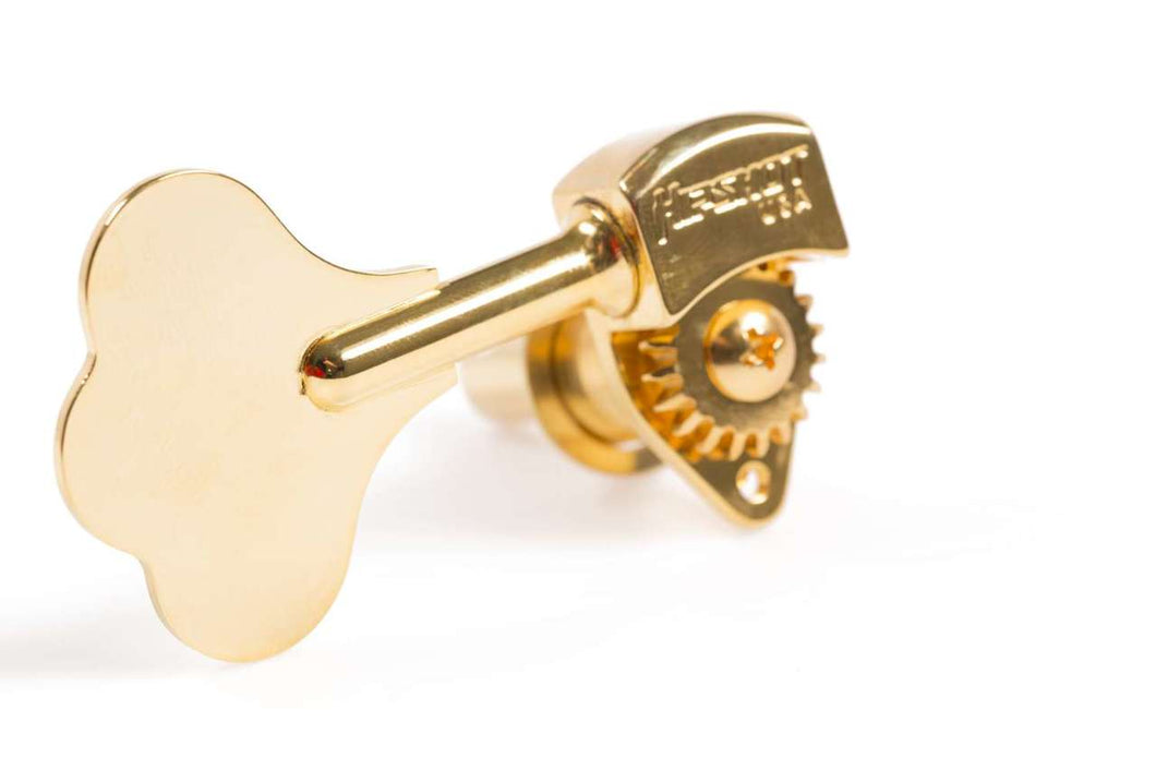 Hipshot Ultralite USA Tuner HB6C 1/2 Gold - 4 Inline Lefty/Treble Set