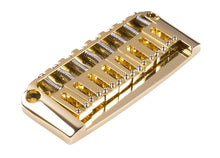 Load image into Gallery viewer, Genuine Hipshot Ibanez Gibraltar replacement Bridge 8 String Gold 4IBG08G