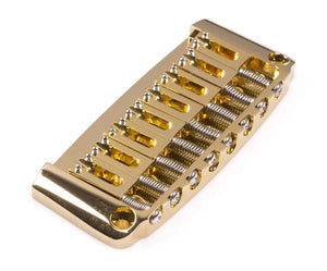 Genuine Hipshot Ibanez Gibraltar replacement Bridge 8 String Gold 4IBG08G