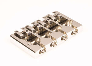 Hipshot A Style 4 String Bass Bridge Aluminum, Nickel, Retrofits 5 Hole Fender